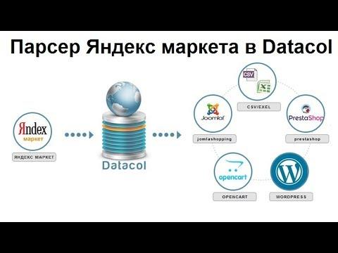 Парсер Яндекс маркета на Datacol. Демонстрация готовой настройки