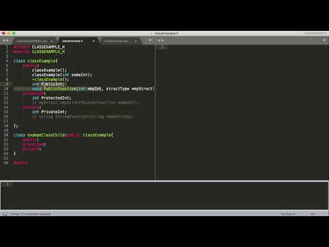 Data Structures Tutorial - 18 - How to Create and Organize .h and .cpp Files For a Class