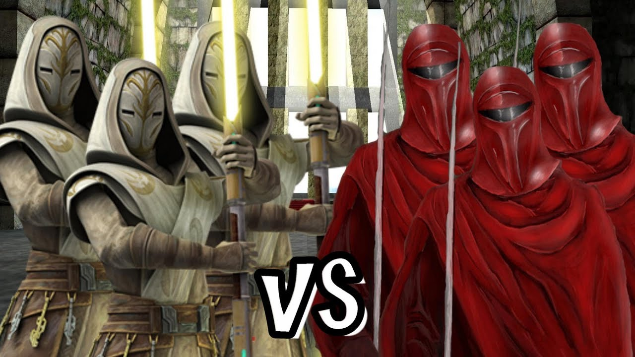 Jedi Temple Guard Vs Palpatines Royal Guard Ai Battle Youtube