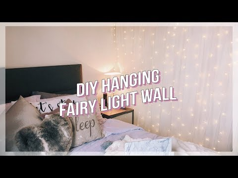DIY FAIRY LIGHT WALL