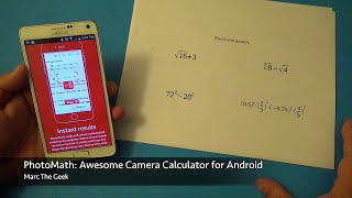PhotoMath: Awesome Camera Calculator for Android