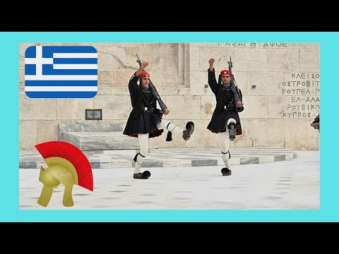 ATHENS: CHANGE OF GUARD at the TOMB OF THE UNKNOWN SOLDIER, GREECE