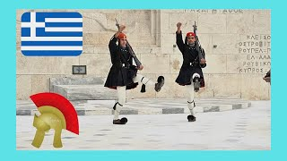 New! Change of guards, tomb of the unknown soldier (Athens, Greece)