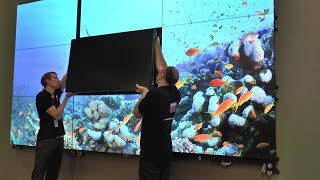 [DEMO] Barco's UniSee Mount, enabling easy servicing