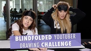 BLINDFOLDED YOUTUBER DRAWINGS  w/ ANDREA RUSSETT // Grace Helbig