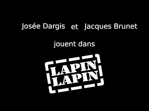 Josée Dargis et Jacques Brunet, dans Lapin Lapin