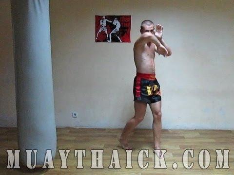 Видео урок по тайскому боксу - Удар ногой с разворота - как, куда, когда!