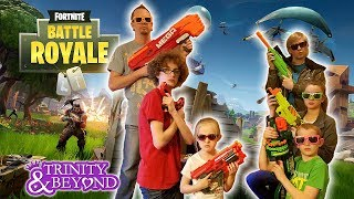 FORTNITE IN REAL LIFE!! Nerf War vs Hunger Games in Real Life Battle Royale!!