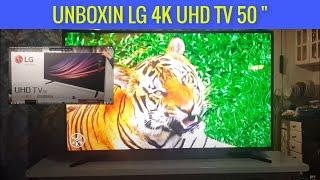 COMPRADA EN LINIO uboxin tv lg 4k 50 pulgadas ES REAL