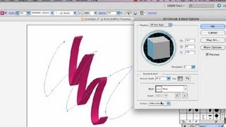 How to Draw a 3-D Outlined Ribbon in Illustrator : Adobe Illustrator