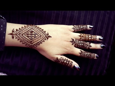 Simple Wrist Henna Easy To Do Bracelet Style Mehendi Design
