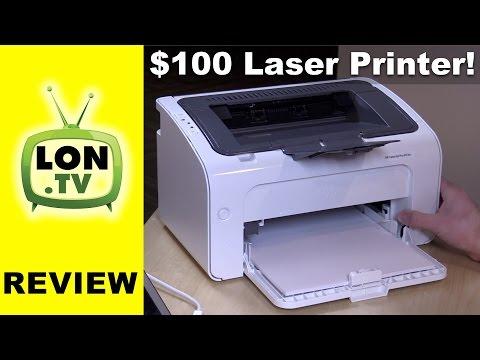 HP LaserJet Pro M12w Sub $100 Laser Printer Review - YouTube