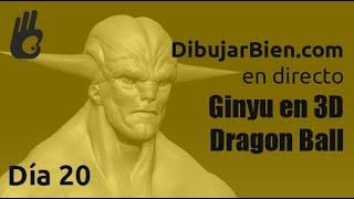 Dibujar Bien en directo. Personaje sorpresa 3D - Dragon Ball, parte 2 . Desafío 52- Día 20
