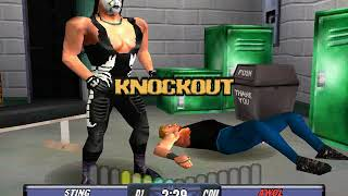 WCW Backstage Assault PS1 - U.S. title with Sting