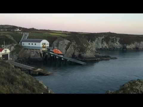 St. David's lifeboat launch