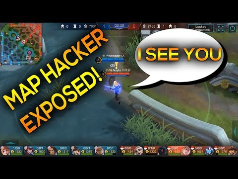 MAP HACKER CAUGHT! BLATANT CHEATER EXPOSED  | MOBILE LEGENDS