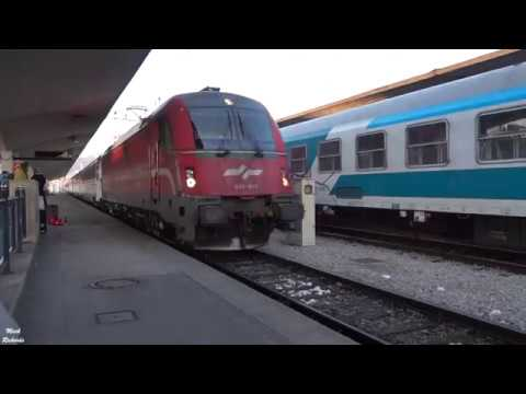 TRAIN JOURNEY from LJUBLJANA, Slovenia to ZAGREB, Croatia