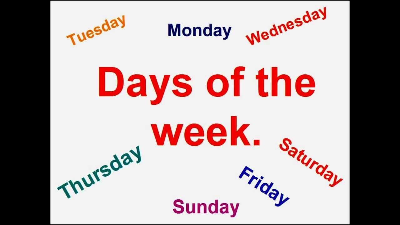 Eccezionale Inglese per bambini.Giorni della settimana.( canzone ) - YouTube EX79