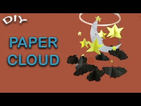 DIY PAPER ClOUD | HOME DECOR | WALL CLOUD DECORATION