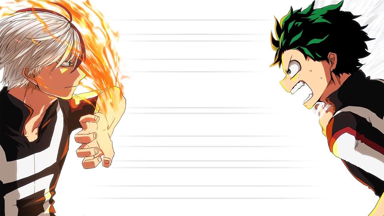 Image result for Izuku Midoriya and Shoto Todoroki