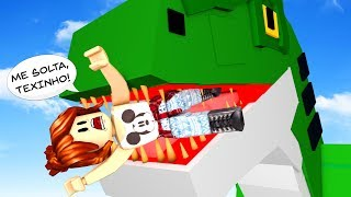 ROBLOX-SHE TURNED FOOD FROM TYRANNOSAURUS TEX ft CRIS MINEGIRL (Dinosaur Hunter)