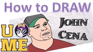 John Cena - WWE - How to Draw John Cena - Fun For John Cena Fans - Easy Drawing