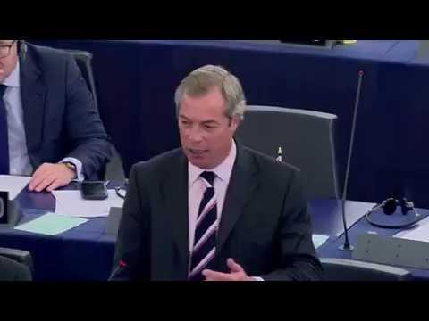 Nigel Farage 'Slaps Down' EU Commission President Jean Claude Junker