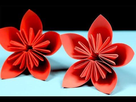 Origami Kusudama Flower - How to Make a Kusudama Paper Flower - DIY Paper Crafts