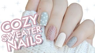 Cozy & Fluffy Sweater Nails