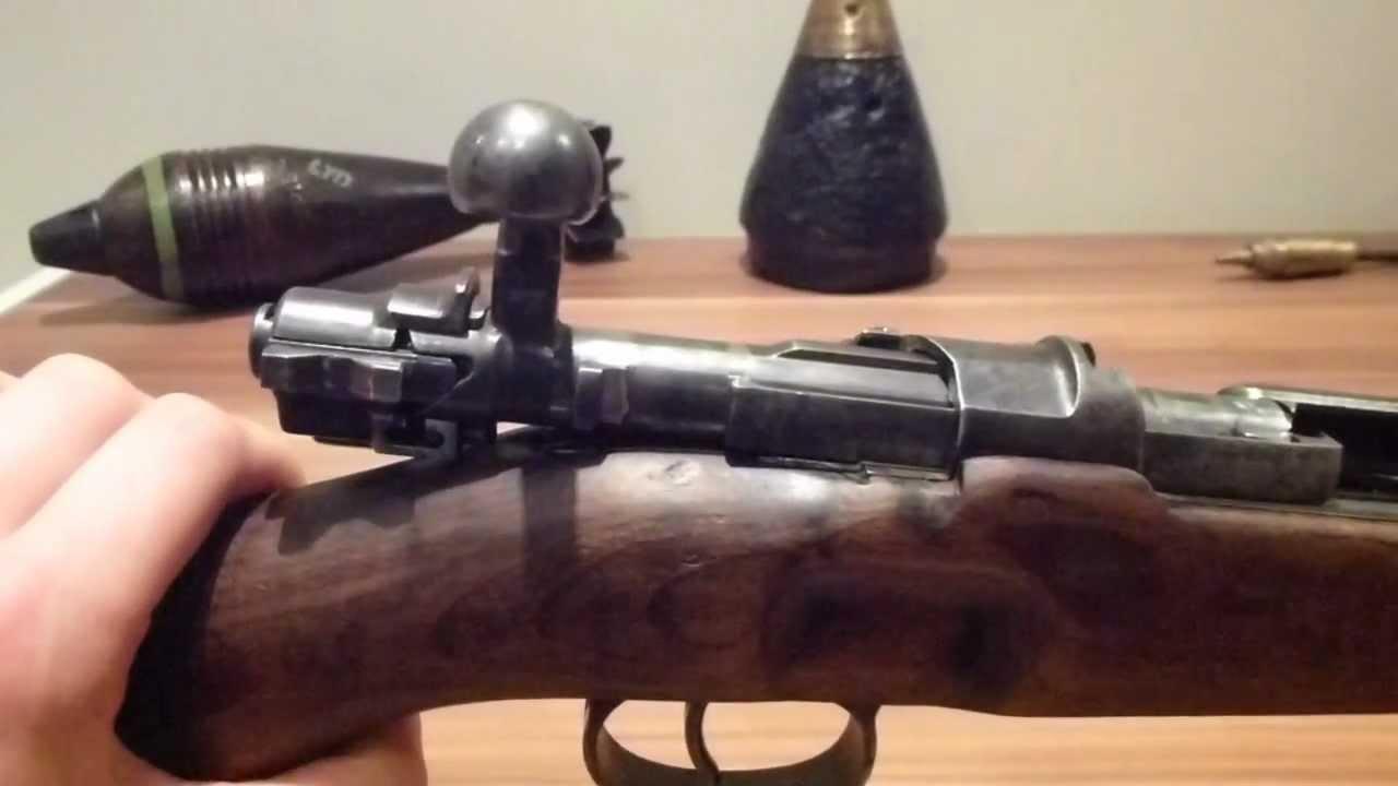 ww2 German K98K Mauser rifle bolt disassembly (bolt field strip) - YouTube