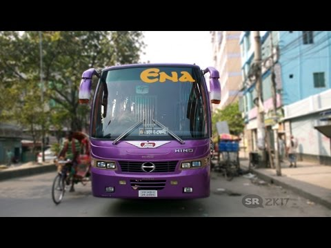 Smart driving By ENA Transport in Bangladesh. Traveling with ENA Transport