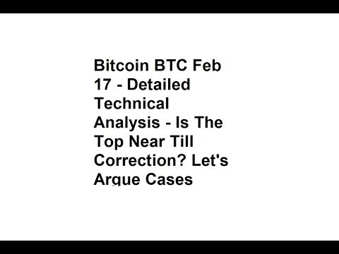 Bitcoin BTC Feb 17 - Detailed Technical Analysis - Is The Top Near Till Correction?