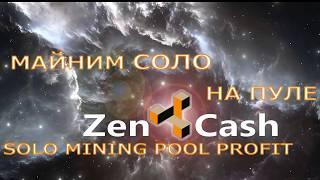 ZenCash HUSH KOMODO Zclassic Solo pool Соло майнинг пул