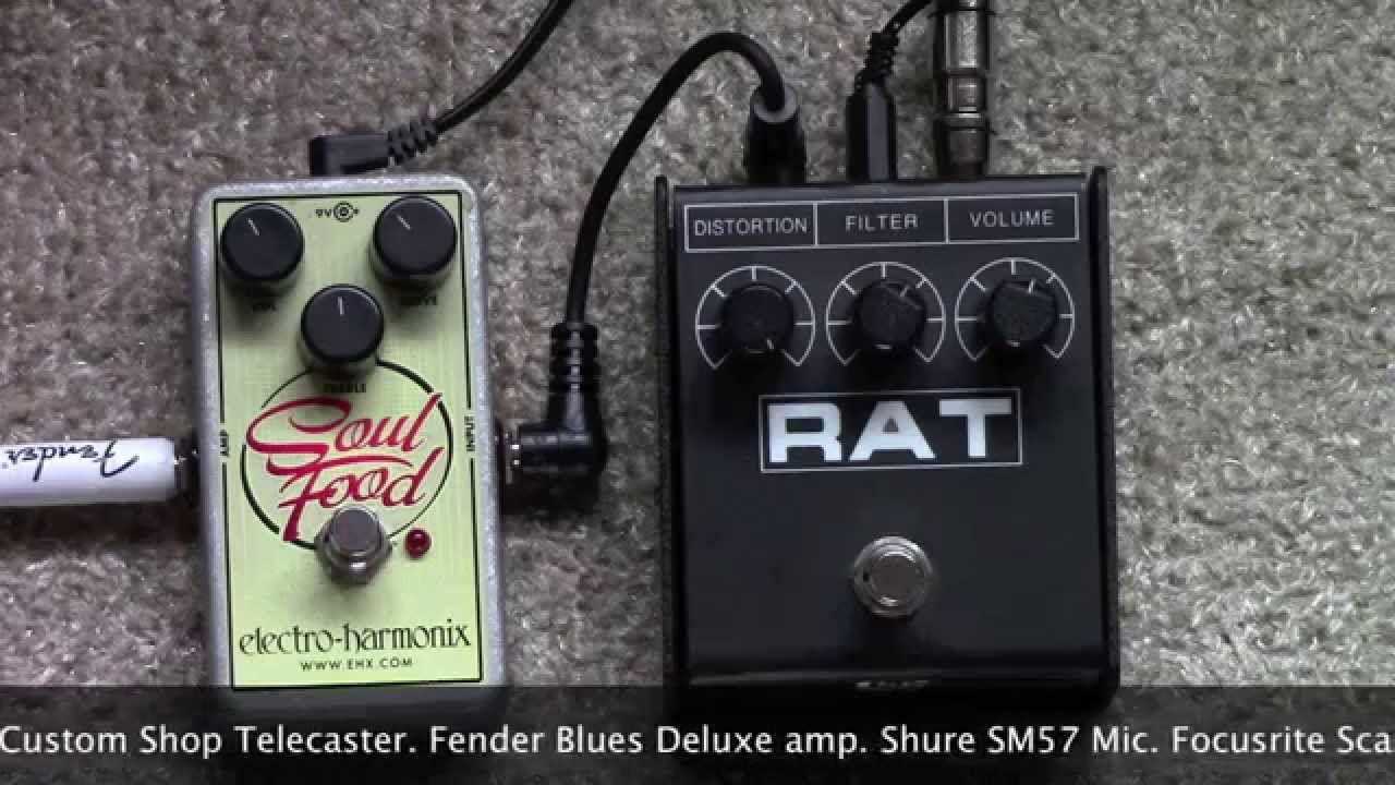 proco rat distortion pedal boosted by an ehx soul food overdrive youtube. Black Bedroom Furniture Sets. Home Design Ideas