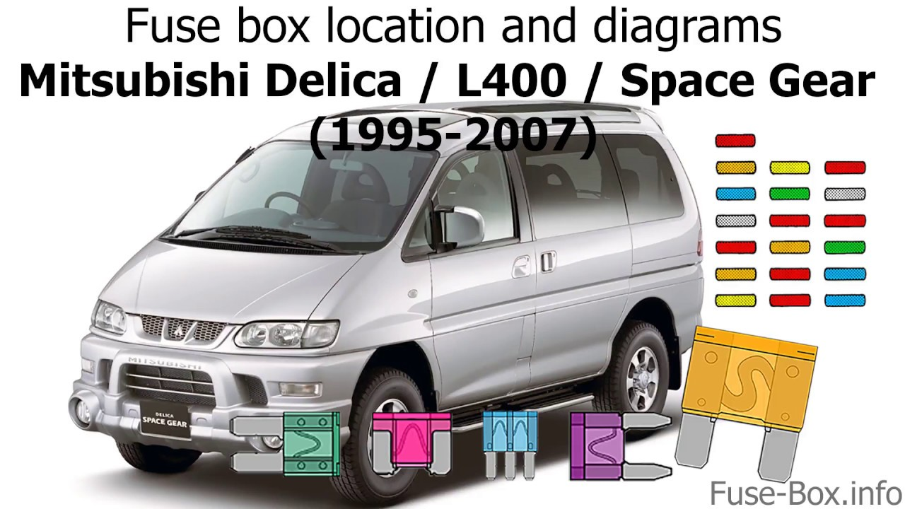[DIAGRAM_5LK]  Fuse box location and diagrams: Mitsubishi Delica / L400 / Space Gear  (1995-2007) - YouTube | Mitsubishi Space Wagon Fuse Box Location |  | YouTube