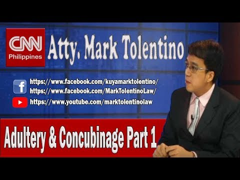 ATTY MARK TOLENTINO   ADULTERY AND CONCUBINAGE