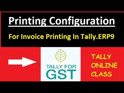 printing configuration print invoice in tally erp9 s no 157 youtube