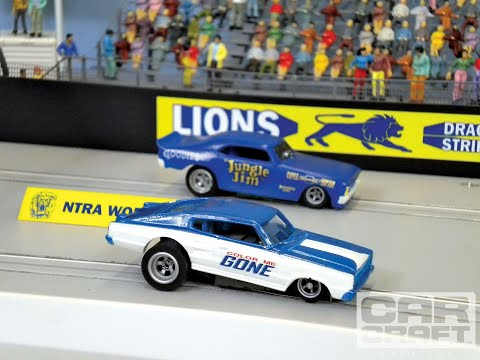 carrera slot car drag race sound effects demo