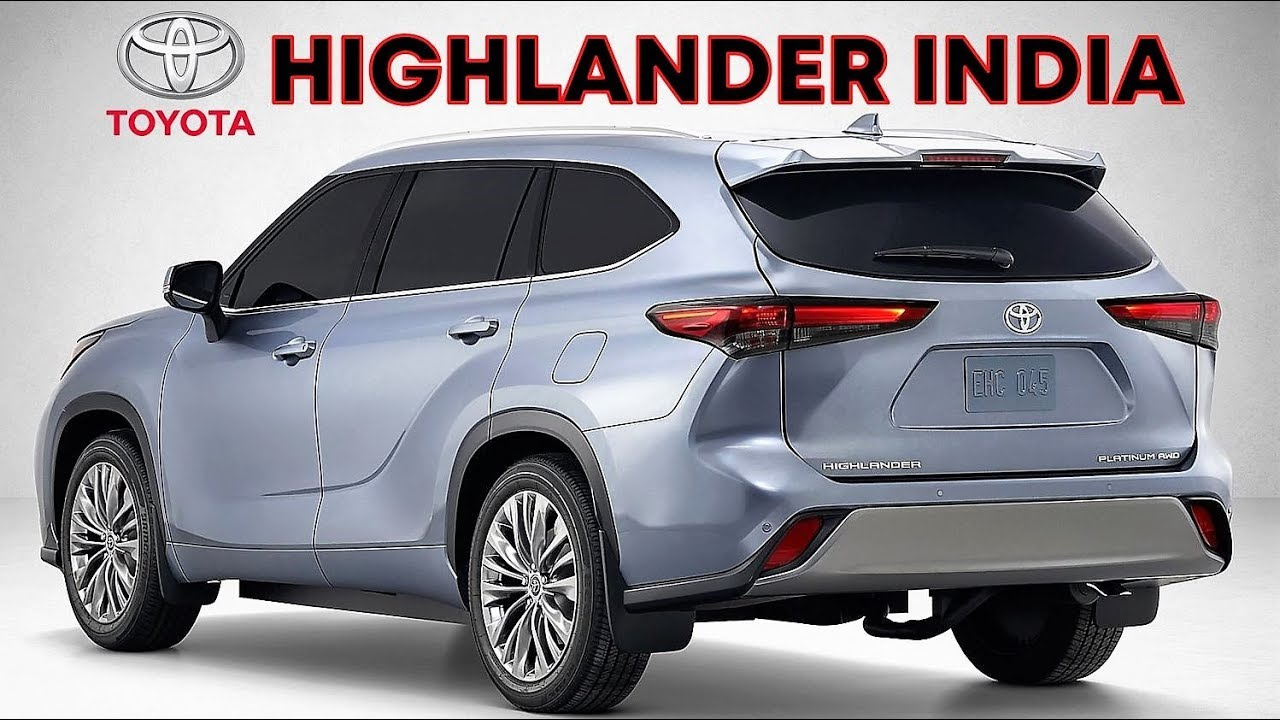 2020 toyota highlander is the best 7 seater suv for india