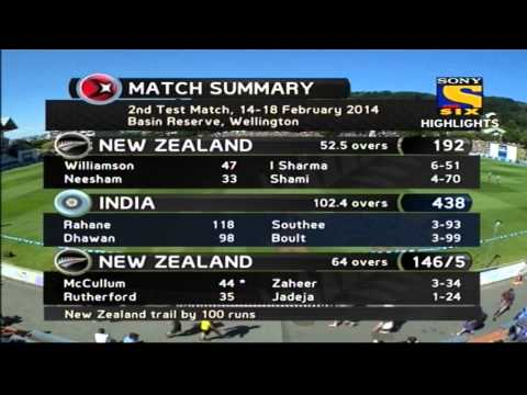 India vs New Zealand | Day 3 | Highlights | 2nd Test | 2014