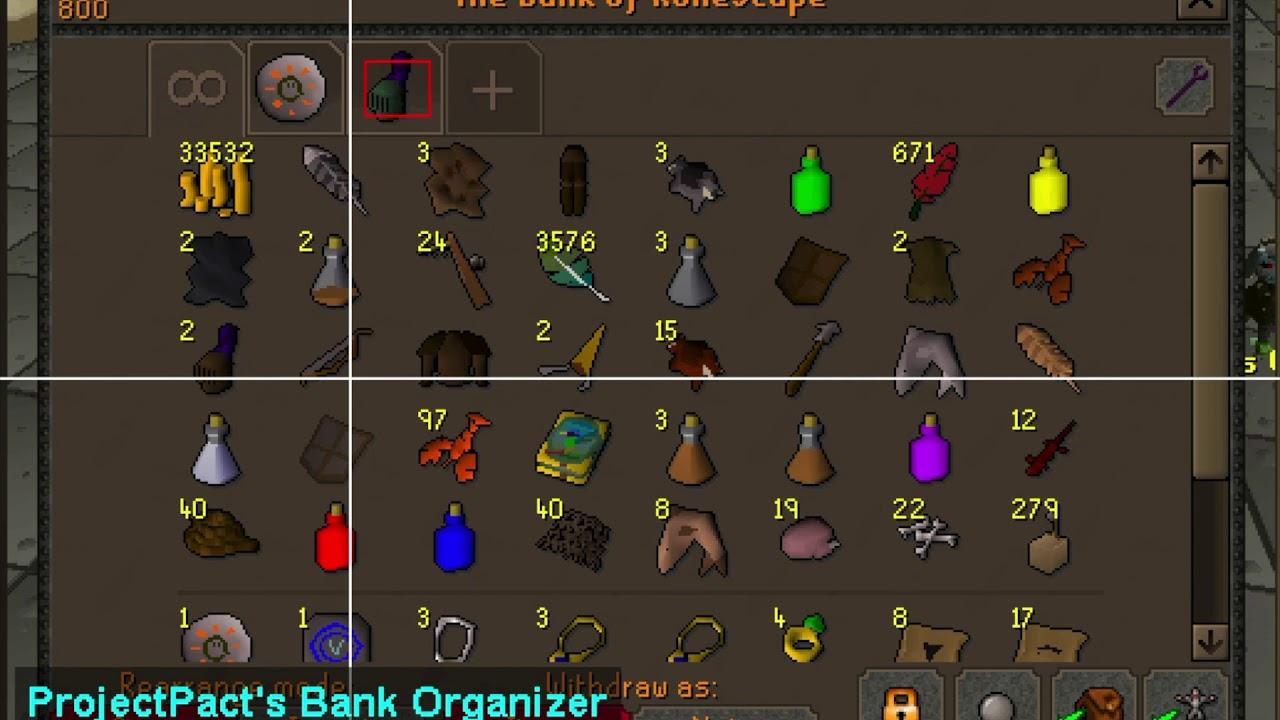 Bank Organizer Others Osbot 2007 Osrs Botting