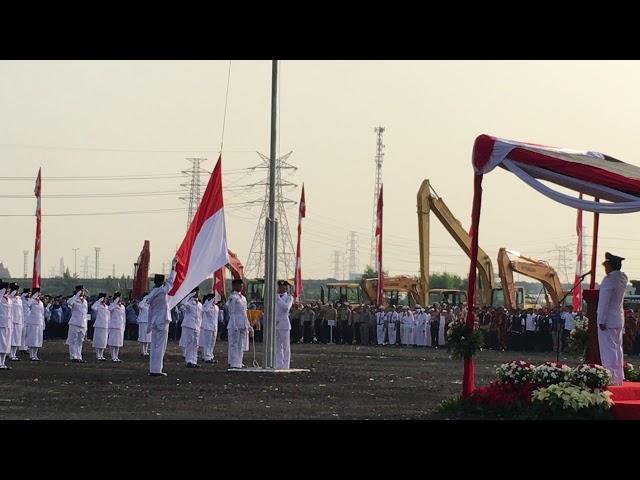 Pengibaran HUT RI 72 Oleh Paskibraka Jakarta Utara Tahun 2017