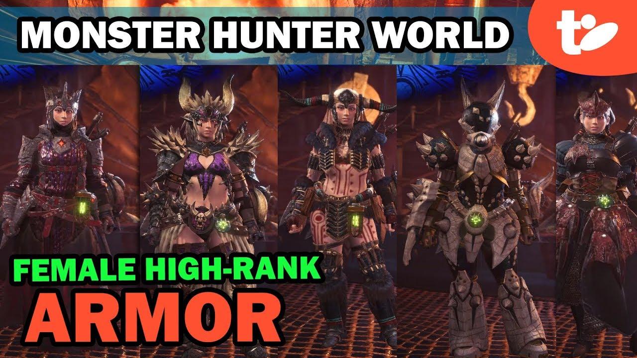 Monster Hunter World Female Armor Sets Skills Color Editor