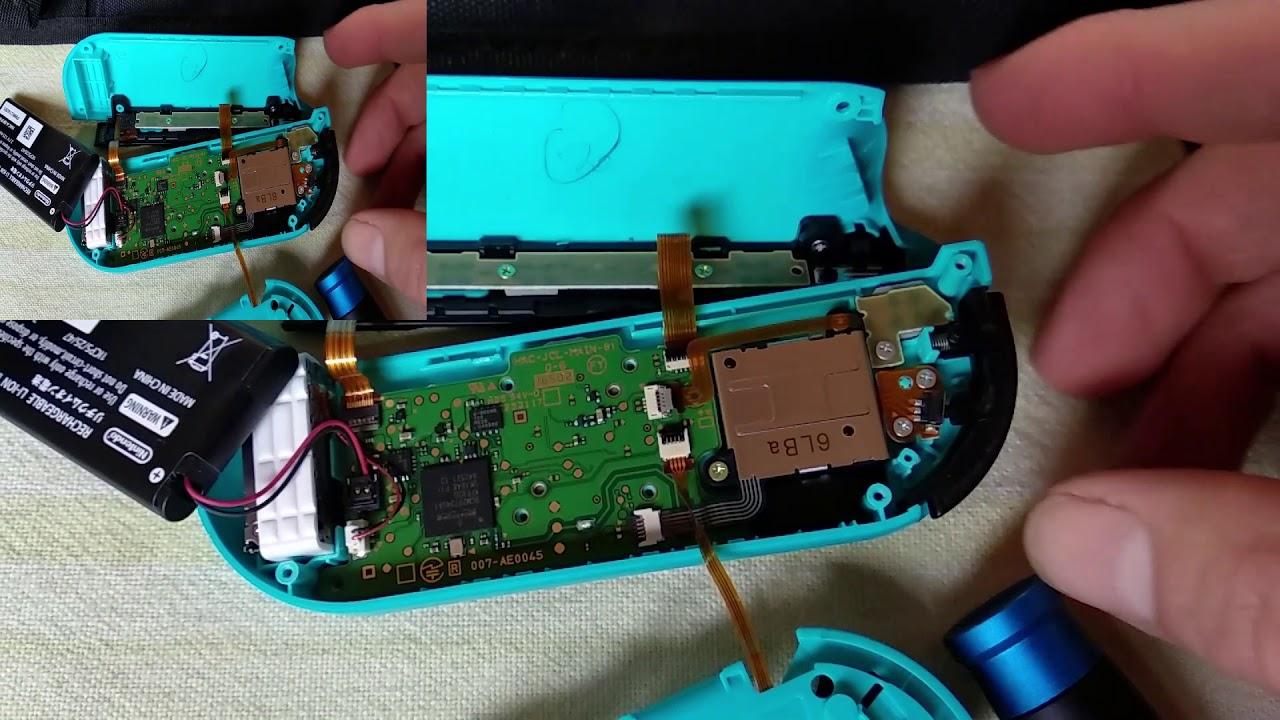 Nintendo Switch left joycon fix using aluminium foil