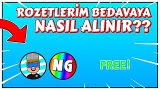 ROZETLERİM BEDAVAYA NASIL ALINIR? / ROBLOX TÜRKÇE