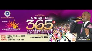A Night of 365 +1 Hallelujah, R.C.C.G Covenant of Peace, Ikorodu