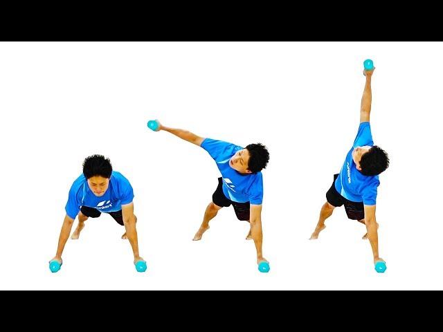 【お腹痩せ】腰回りの脂肪を落とす腹筋の体幹トレーニング!