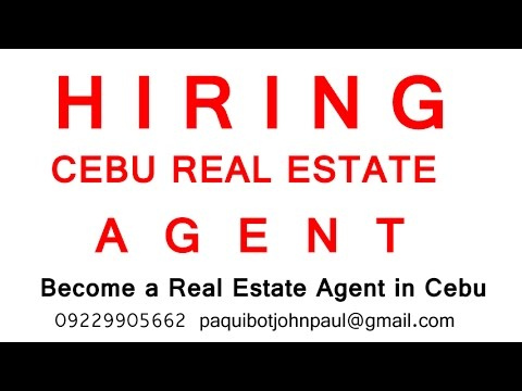Hiring Real Estate Sales Agent in Cebu Philippines +639324257650