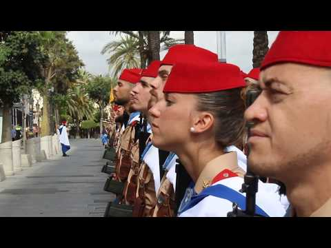 Himno de Regulares en el homenaje anual a González Tablas