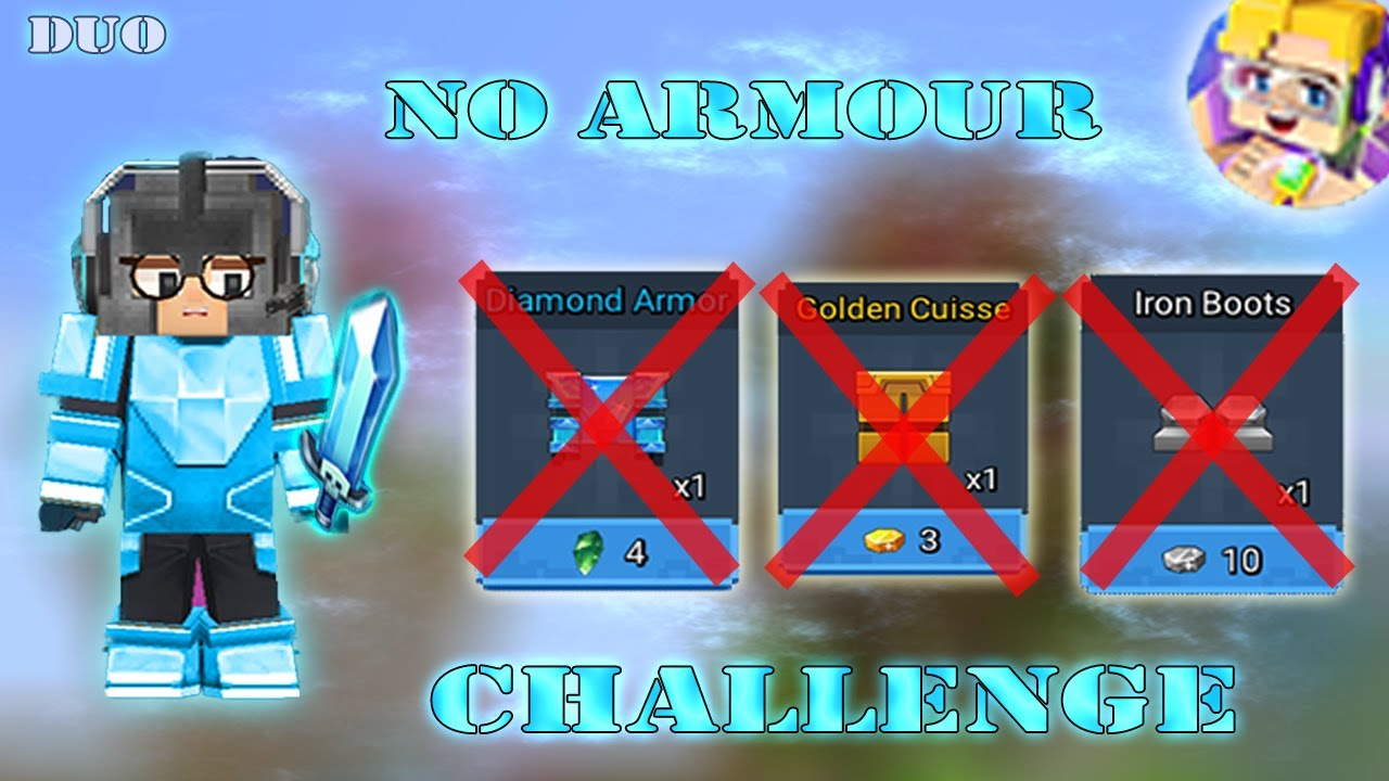 NO ARMOUR Challenge In DUO Bed Wars | Blockman Go Gameplay (Android , iOS)